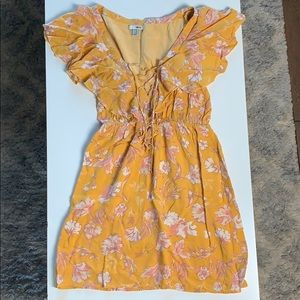 Amuse Society Floral Tie Front Dress
